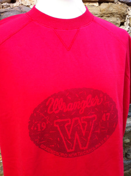 Vintage Red Wranglers Logo Top