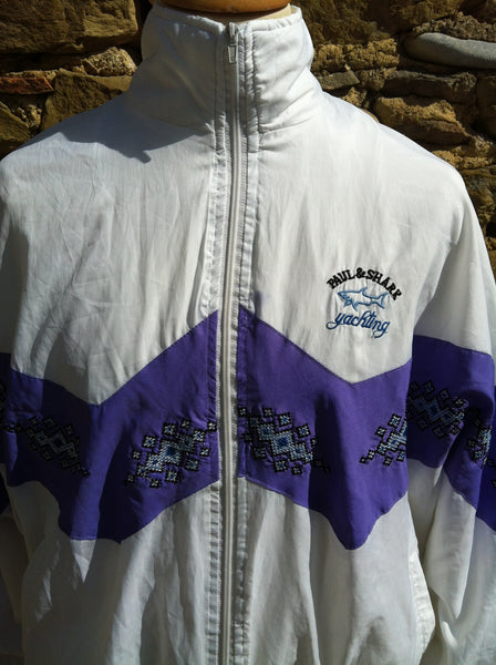Vintage Purple Aztec Paul & Shark Windbreaker