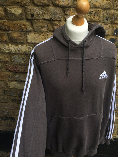 Vintage Brown Adidas Performance Hoodie (L)