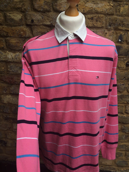 Striped Hilfiger long sleeve (M/L)