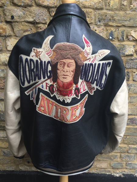 Vintage Avirex Oorang Indians Leather Varsity
