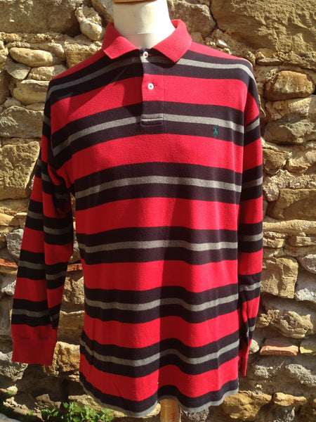 Vintage soft cotton Polo long sleeve (L)