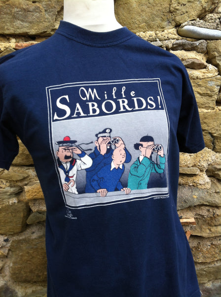 Vintage Tin-Tin Milles Sabords printed Top