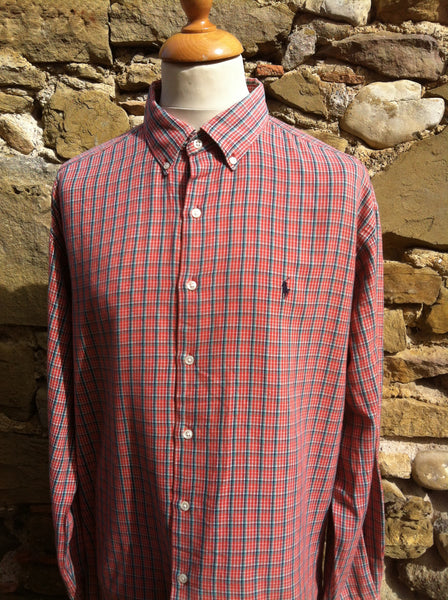 Vintage Red mix Polo Flannel