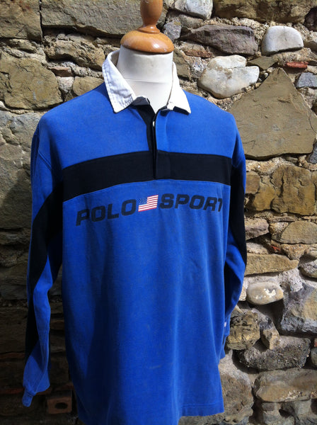 Vintage Black bar Polo Sport Rugby