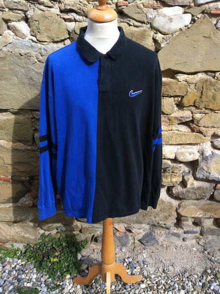V intage two tone Nike Rugby Shirt