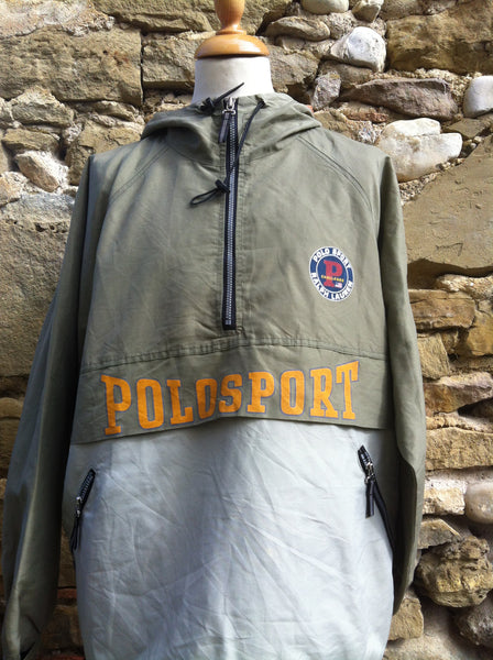 Vintage Mixed Olive Polo Sport Challenge Jacket