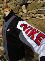 Vintage red Nike spellout Track Jacket