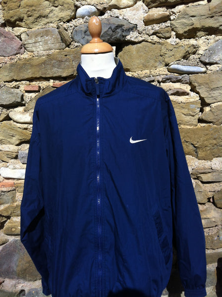 Vintage Navy box logo Nike Jacket