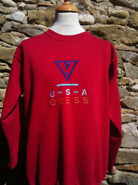 Vintage Red US Guess Sweater