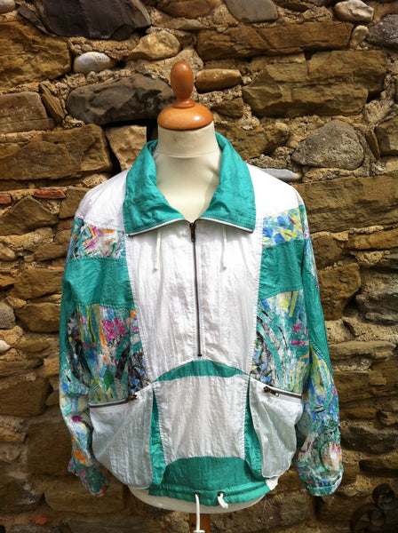 Vintage Sergio Tacchini Abstract Pullover Jacket