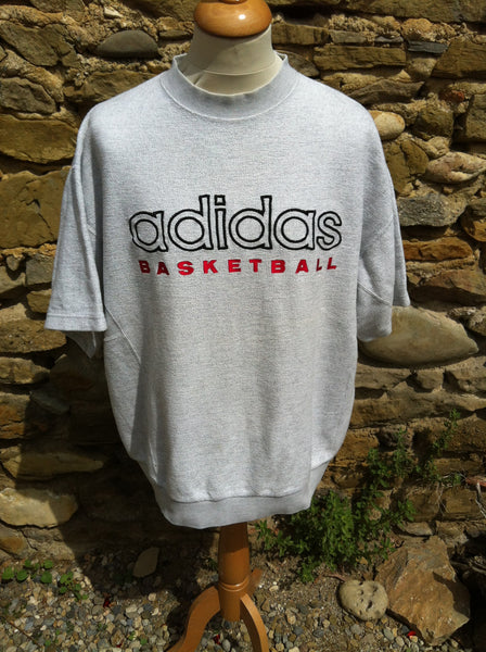 Vintage Adidas Basketball cotton Jersey