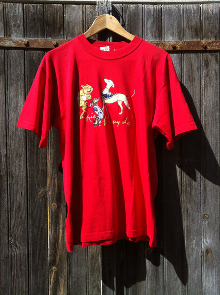 Vintage Chipie Funny Dogs Top