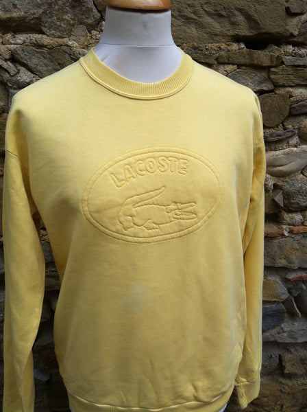 Vintage light Yellow Lacoste outline Sweater