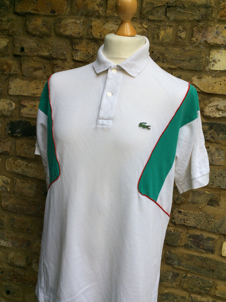 Vintage under sleeve sectioned Lacoste Polo (M)
