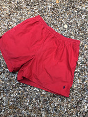 Vintage Red Polo Sport Shorts (M)