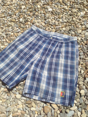 Vintage Blue checked Nike Court Shorts (M)