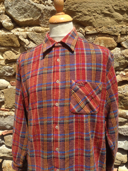 Vintage Red Mix Marlboro Flannel (M/L)