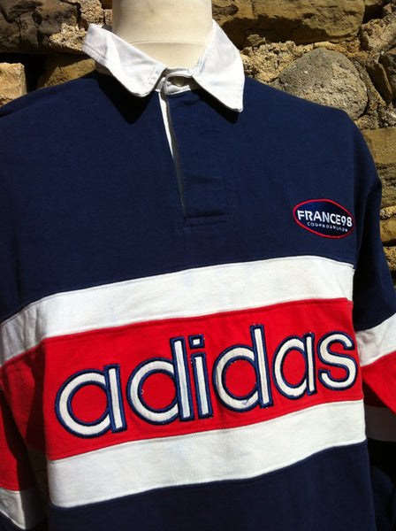 Vintage Striped Adidas France '98 Rugby Shirt