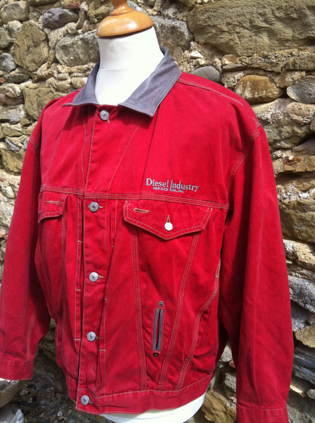 Vintage Diesel Industry red Denim Jacket