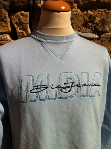 Vintage Baby Blue Dia Jeans Sweater