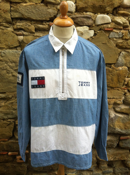Vintage striped Tommy Jeans 1/4 Shirt