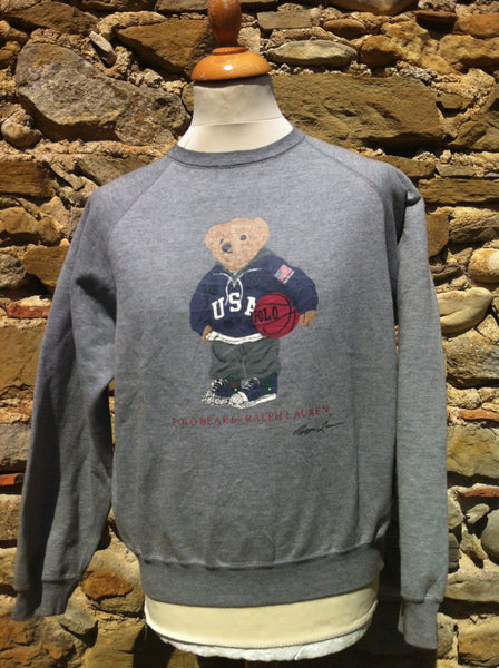 Vintage Grey Polo Bear Sweater