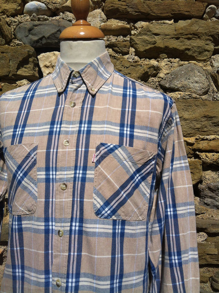 Vintage Cream checked Levi's Shirt
