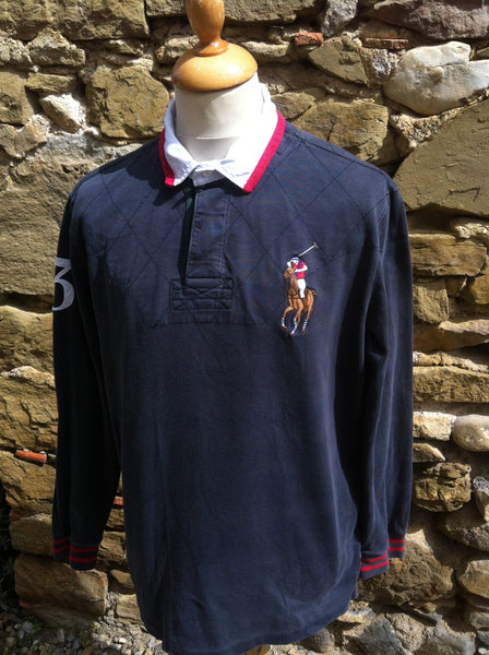 Vintage big embroidery Polo Rugby (M/L)
