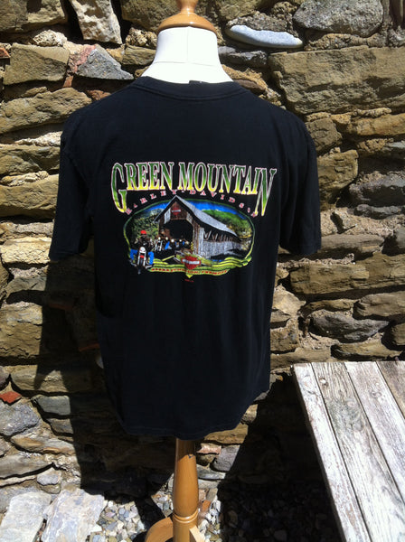 Vintage Harley Davidson Green Mountain Top