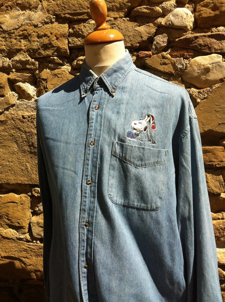 Vintage peanuts Denim Shirt