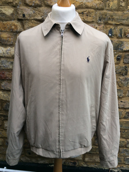 Tanned padded 90's Polo Harrington (L)