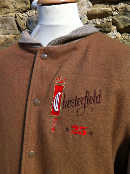 Vintage Tanned Chesterfield Suede Bomber