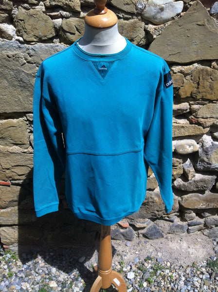 Vintage teal Adidas E. cord Sweater