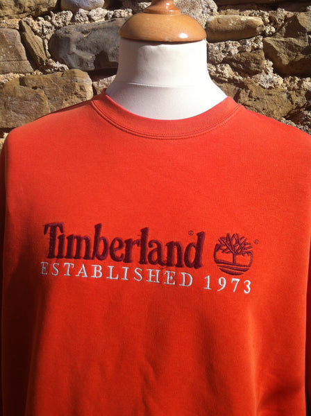 Vintage Orange Timberland Established Pullover