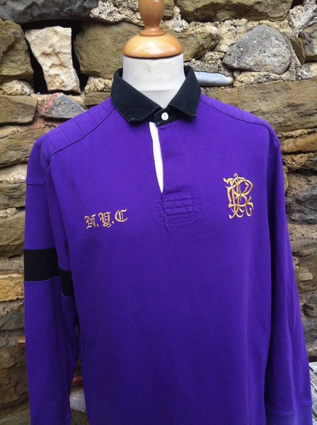 Vintage Purple NYC Ralph Lauren Polo Rugby Shirt (M/L)