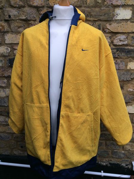 b4772f306348 Vintage reversible Yellow fleece Nike Jacket (L XL) – Column11