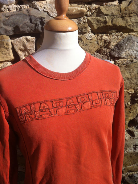 Vintage Orange Napapijri Pullover