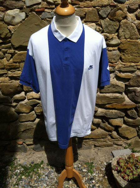 Vintage blue striped Nike S. Court Polo (L/XL)