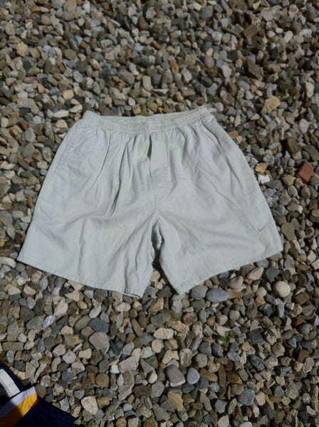 Vintage silver on cream Nike cotton Shorts (M)