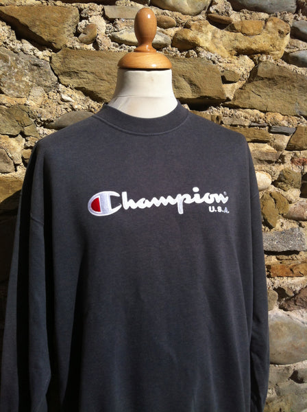 Vintage Purple marble Champion script Sweater