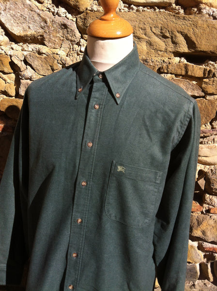Vintage charcoal Green Burberry's Shirt