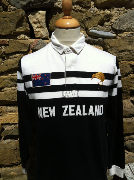 Vintage Serge Blanco '1958' New Zealand Rugby Shirt