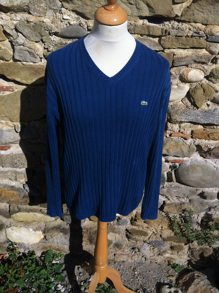 Sea Blue Lacoste Knitwear Sweater