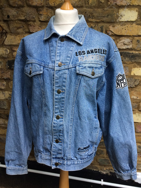 Vintage rare  NFL Raiders Denim Jacket (L)