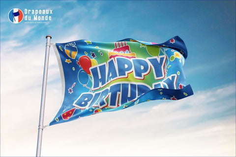 Drapeau Happy Birthday | Drapeaux du Monde