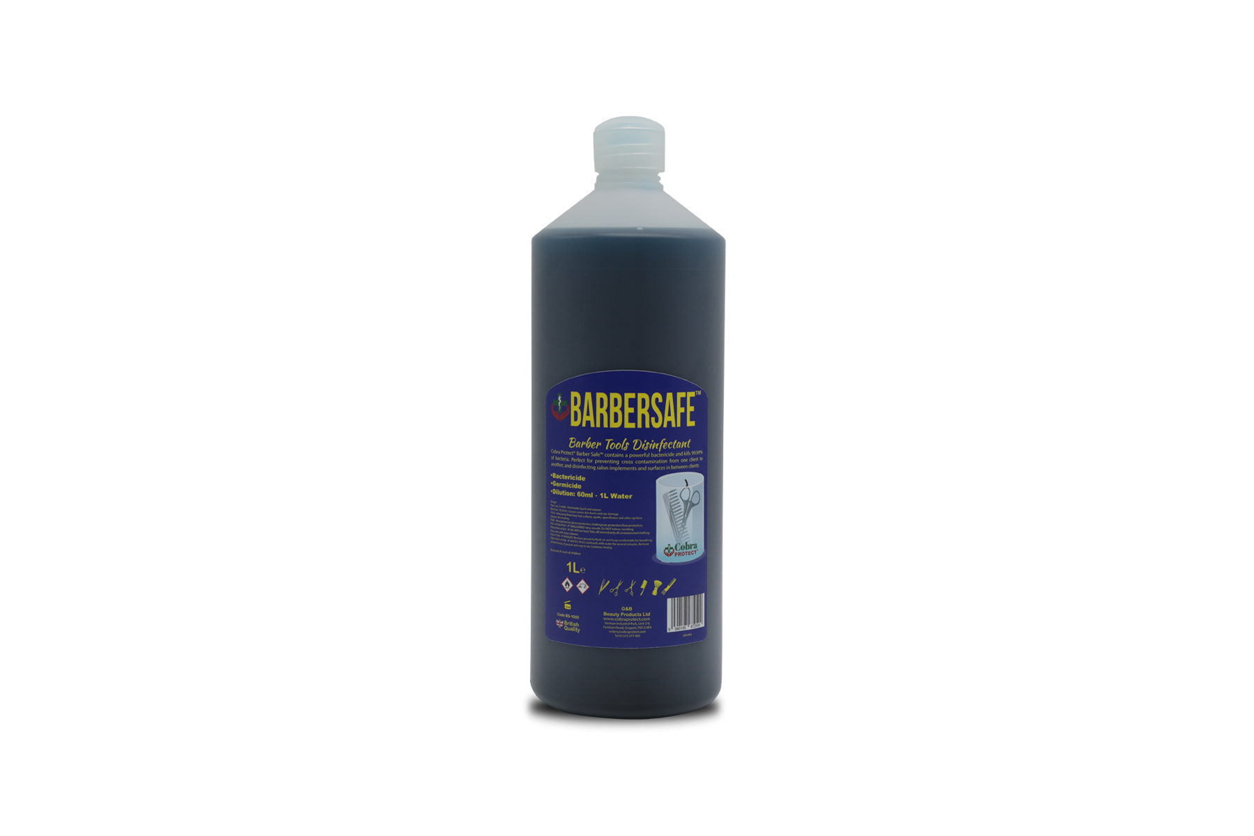 1 L Barbersafe™ + Free 1 Face Shield