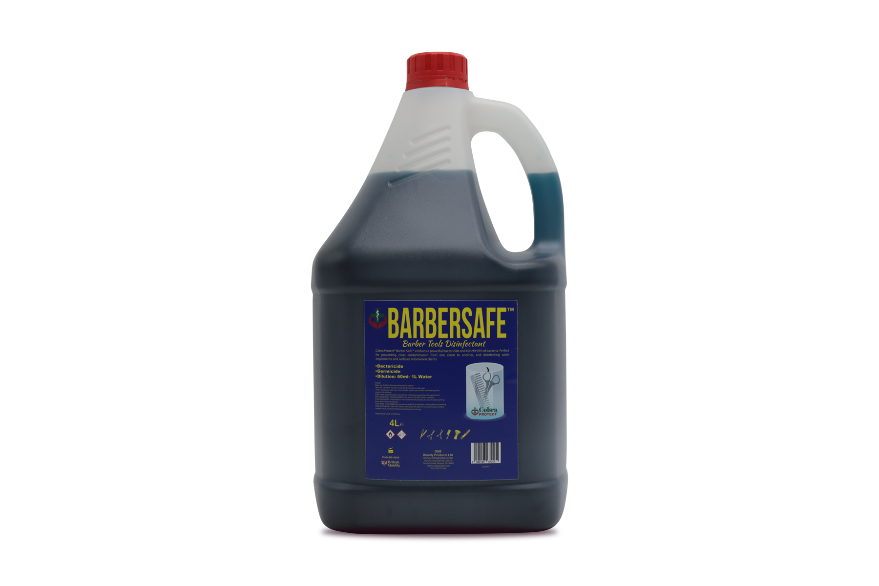 4 L Barbersafe™ + Free 1 Face Shield