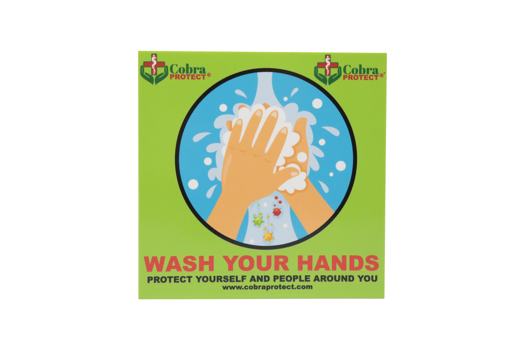 Wash Your Hands Sign 20x20cm