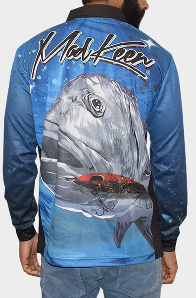 Giant Trevally Long Sleeve Polo